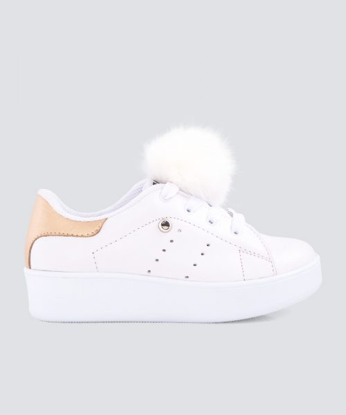 Mini PUMPS BLANCO DORADO