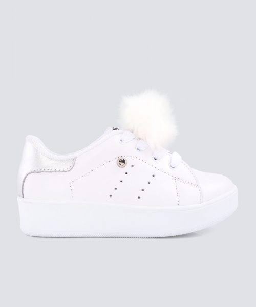 Mini PUMPS BLANCO PLATEADO