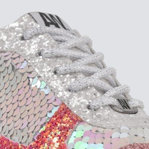Mini Glitter Rosado Blanco